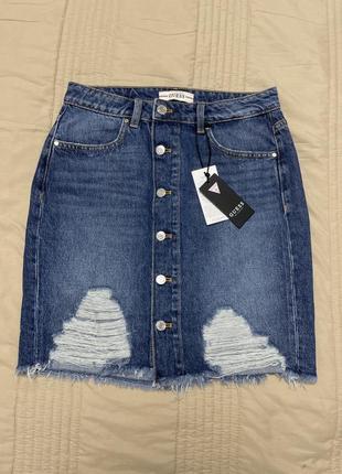 Новая джинсовая юбка guess