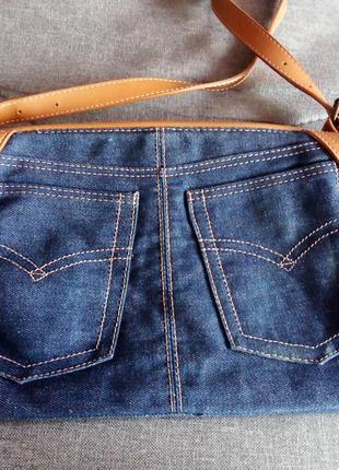 Джинсовая сумочка, handmade