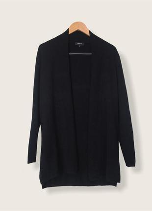 Чорний базовий кашеміровий кардиган 100%кашемир від бренду lawrence grey