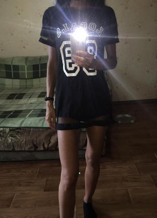 Футболка платьем с сеткой