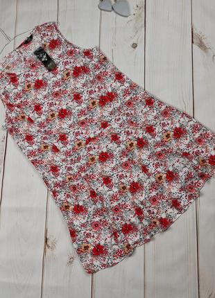 Платье новое очаровательное цветочное f&f uk 14/42/l