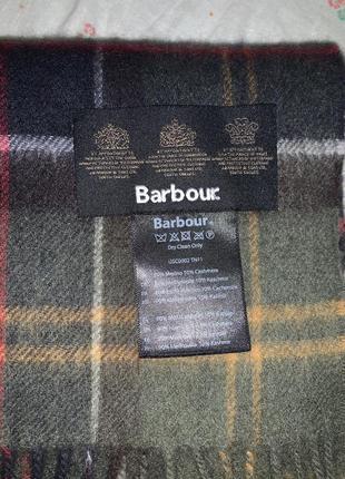 Шарф barbour клетка оригинал шерсть