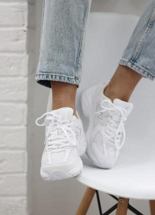 ❤ женские белые текстильные  кроссовки  new balance 530 white ❤2 фото