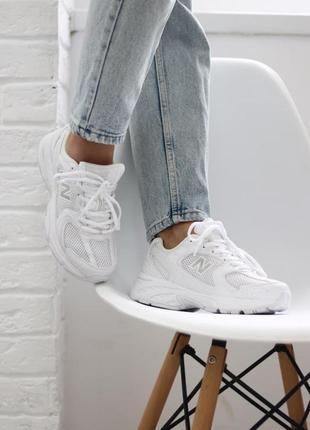 ❤ женские белые текстильные  кроссовки  new balance 530 white ❤9 фото