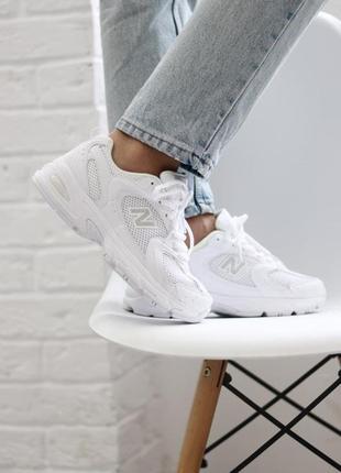 ❤ женские белые текстильные  кроссовки  new balance 530 white ❤7 фото