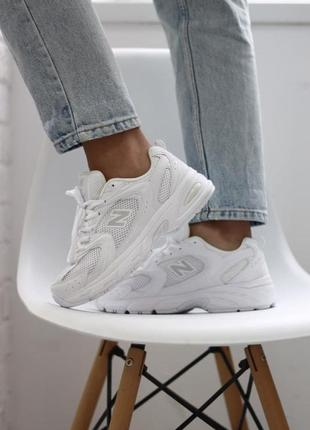 ❤ женские белые текстильные  кроссовки  new balance 530 white ❤