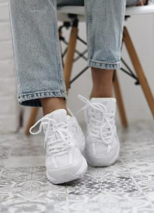 ❤ женские белые текстильные  кроссовки  new balance 530 white ❤8 фото