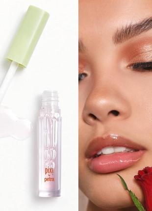 Блеск плампер для увеличения губ с пептидами pixi liplift max petal ice