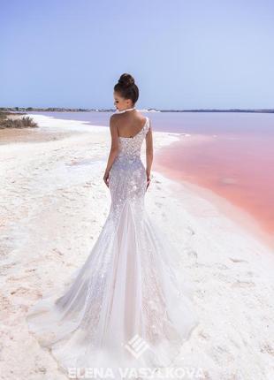 Нереальное шикарное платье роспись свадебное