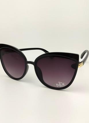 Женские солнцезащитные очки flyby «kitty» черная роговая оправа