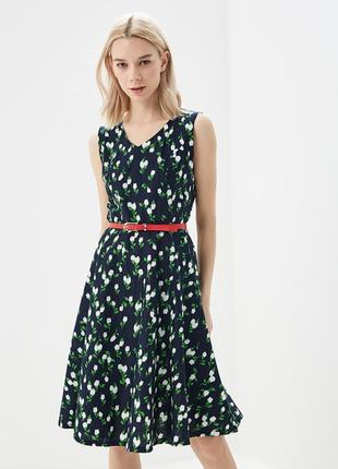 Хлопковое платье sweet miss в цветочках