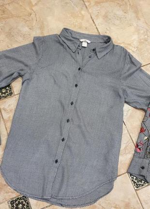 Рубашка женская рубашка оверсайз рубашка хлопковая рубашка h&m