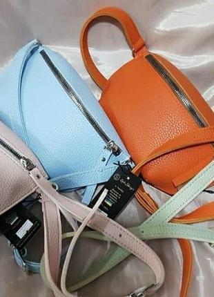 Новинка😍яркие кожаные бананки женские/сумка через плечо,поясная сумка кожа флотар