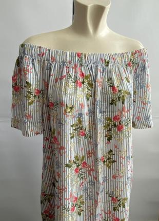 Нежное платье сарафан tu на плечи 100% вискоза