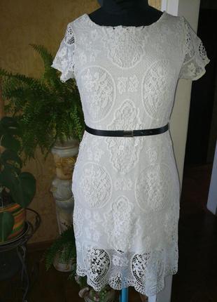 Платье ажурное, италия