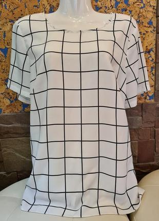 Модная шелковая блузка английского бренда george, uk 16-18, блуза, рубашка, кофточка
