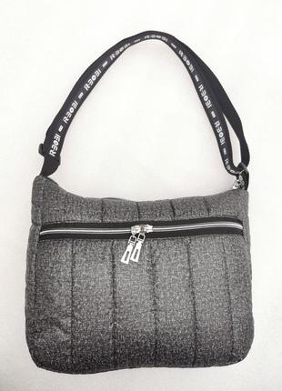 Женская сумка на плечо планшет сумка для спорта повседневная сумка жіноча сумка ручная кладь серая
