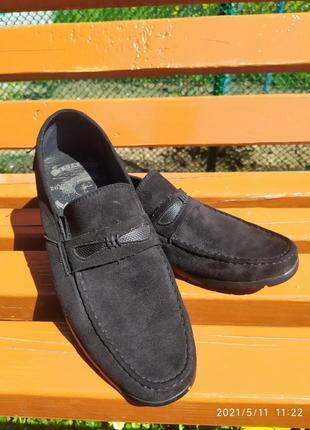 Стильные мужские туфли/еко замша/слипоны/мокасины