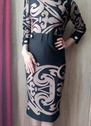 Платье миди с винзелями, размер м