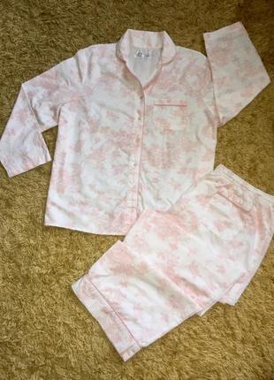 Хлопковая летняя пижама в нежном цвете от m&co большой размер