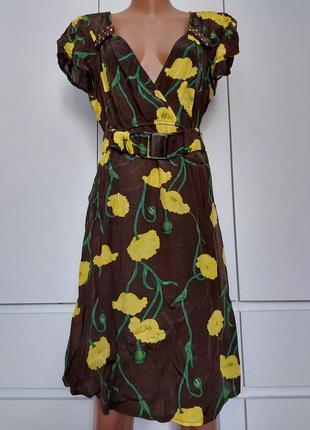 Итальянское легкое вискозное платье р. 46 (10, м)/свое/не жаркое