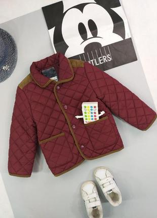Куртка стеганная бордо 3-4года
