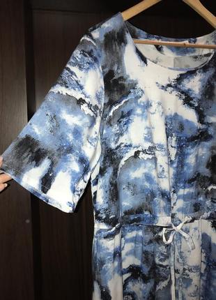 Платье штапель на кулиске 52-54
