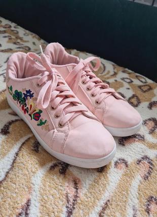 Женские кроссовки кроссовки розовые кроссовки кеды женские