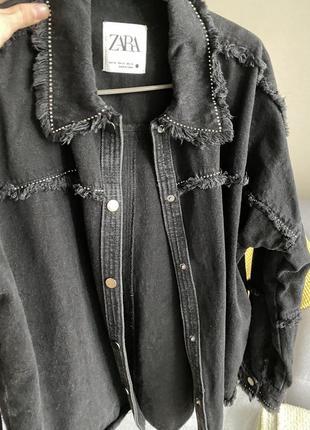 Zara джинсовая куртка