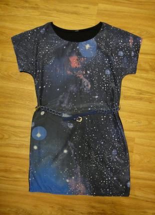 Красивое яркое летнее платье женское, туника р. 44-46 (38) с ремешком5 фото