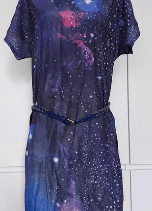 Красивое яркое летнее платье женское, туника р. 44-46 (38) с ремешком