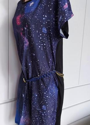 Красивое яркое летнее платье женское, туника р. 44-46 (38) с ремешком4 фото
