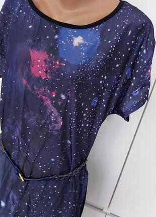 Красивое яркое летнее платье женское, туника р. 44-46 (38) с ремешком6 фото