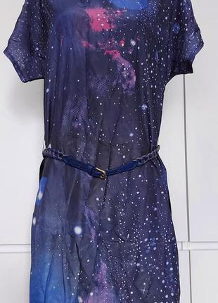 Красивое яркое летнее платье женское, туника р. 44-46 (38) с ремешком3 фото