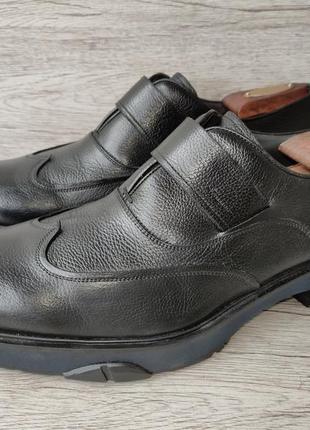 Salvatore ferragamo 43p туфли мужские кожаные италия