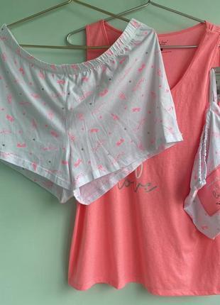 Пижама яркая батал  с сумочкой f&f