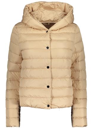 Куртка деми 40рр с капюшоном два цвета беж и  голубой
