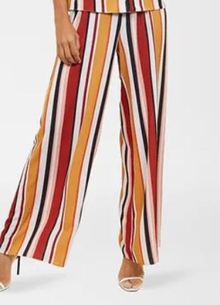 Брюки штаны палаццо новые в полоску модные new look uk 14/42/l