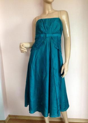 Шелковое елегантное платье/l/ brend monsoon