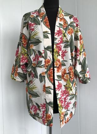 Кардиган накидка кимоно жилет в цветочный принт primark