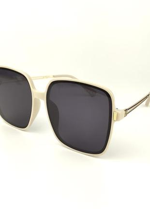 Солнцезащитные очки «joy» с молочной роговой оправой и серой линзой