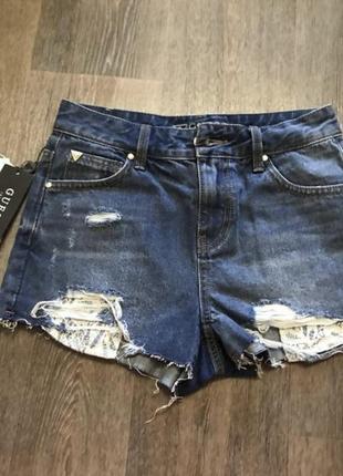 Новые оригинальные джинсовые шорты guess