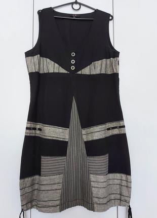 Удобное классное натуральное платье бочонком/бохо  yest р. 46-48-50 (14/42)