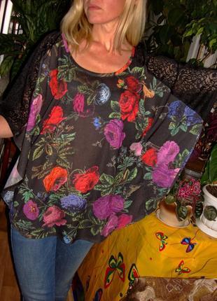 Легкая нарядная блузка летучая мышь h&m