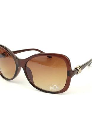 Солнцезащитные очки flyby «big» с коричневой роговой оправой