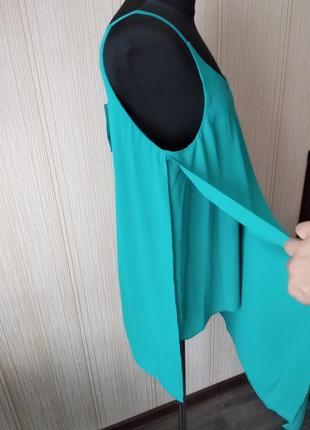 Блуза,блуза-майка-разлетайка,красивый цвет .