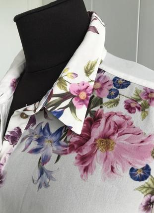 Роскошная рубашка сорочка блузка в цветочный принт george