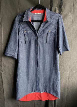 Платье рубашка с карманами