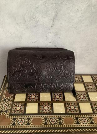 Кожаный кошелёк london leather goods