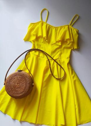 Летний желтый сарафан  платье